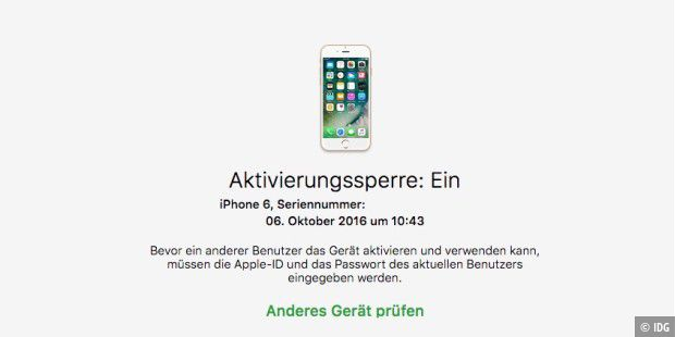 verkaufsunfall neue iphones mit icloud sperre versehen macwelt. Black Bedroom Furniture Sets. Home Design Ideas