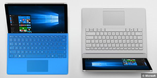 Surface Pro und Surface Book.