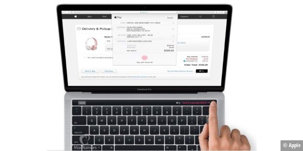 Macbook Pro mit der Touch ID
