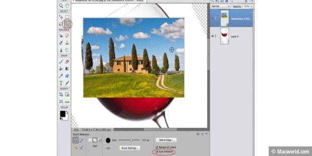 Logo mit hintergrund verschmelzen photoshop
