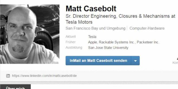 Matt Casebolt, Senior Director Engineering, Closures & Mechanisms bei Tesla
