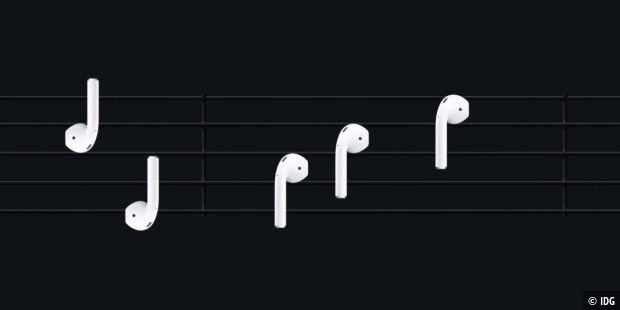 Airpods als Noten