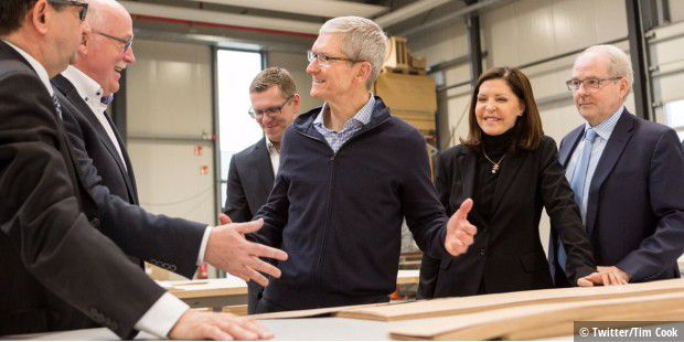 Tim Cook bei Dula in Vreden