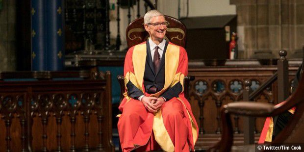 Tim Cook in Glasgow