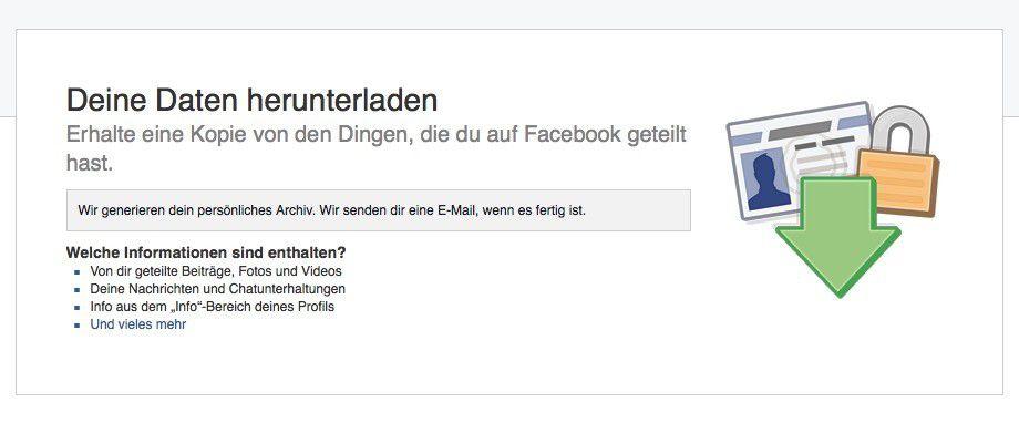 facebook endgültig löschen link