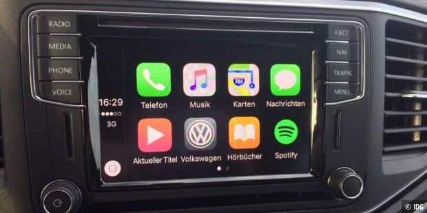 Der Home Screen von Carplay im Amarok.