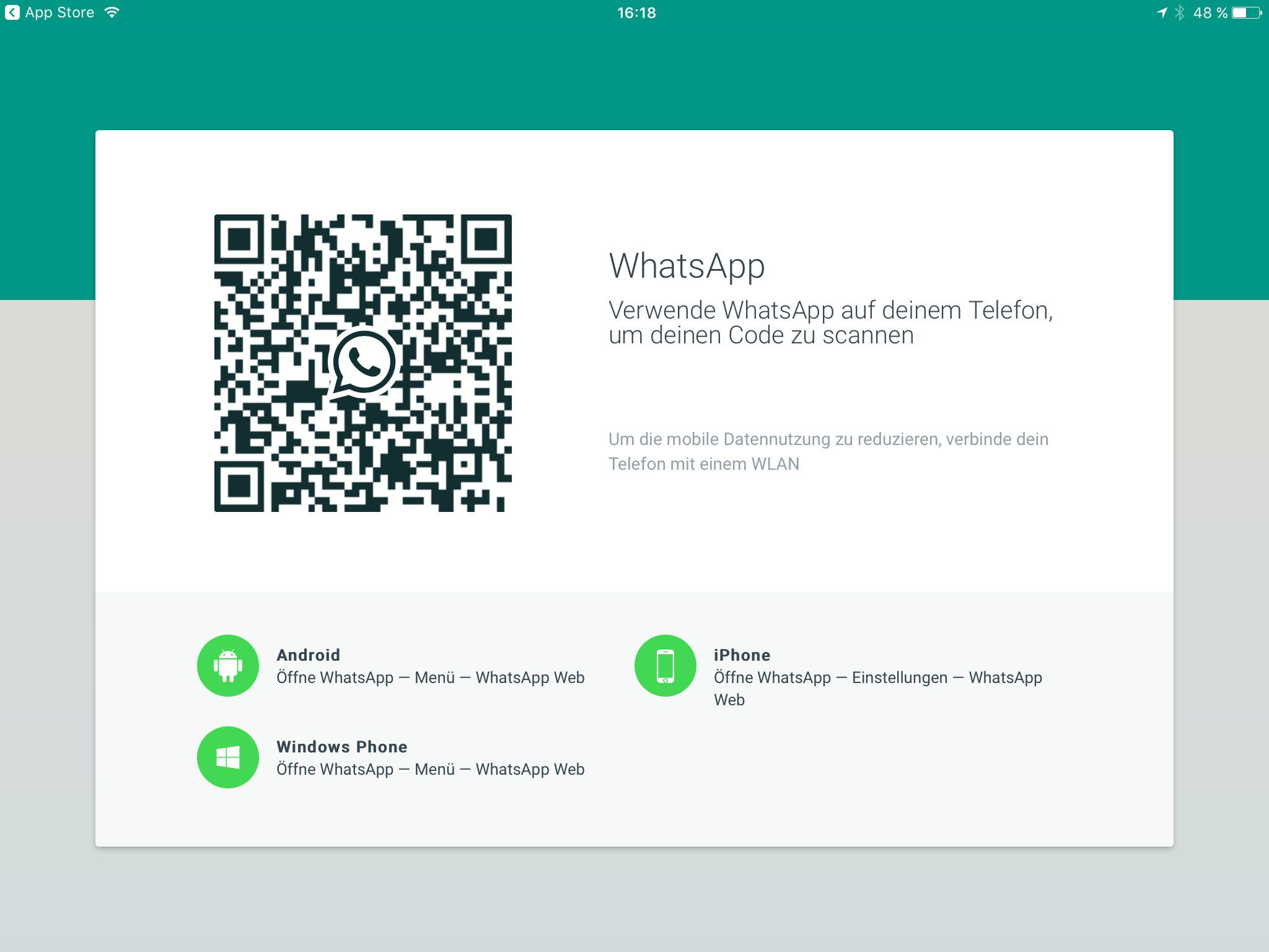 whatsapp ipad ohne smartphone