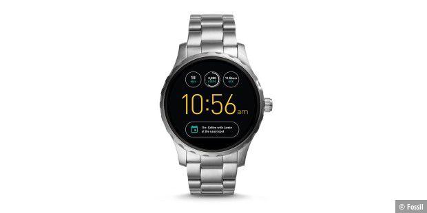 Fossil Q Marshal Eine Smartwatch Mit Android Wear Und Iphone Geht