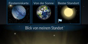 Astronomie-App: Sonnenfinsternis by Redshift