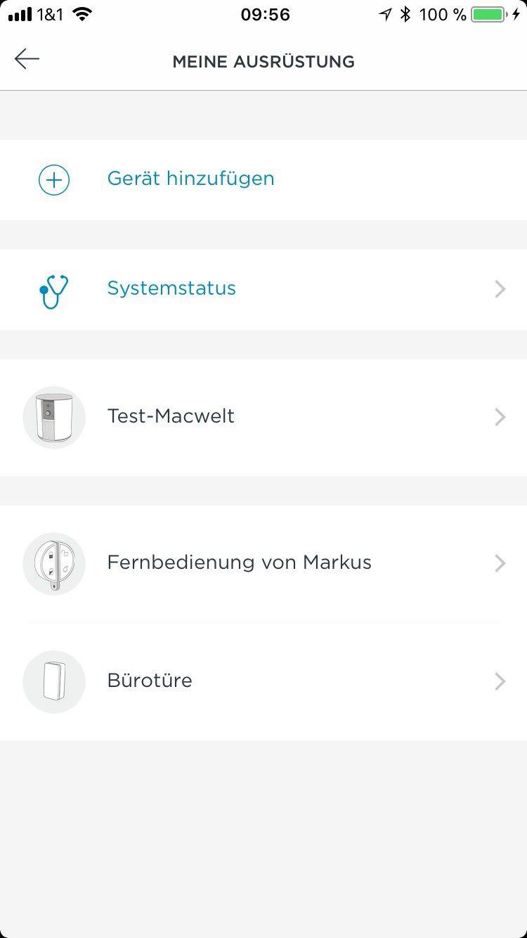smart home berwachungskamera somfy one im test macwelt. Black Bedroom Furniture Sets. Home Design Ideas