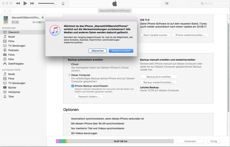 Wiederherstellen Festplatte Ist Voll Lösche Dateien Iphone