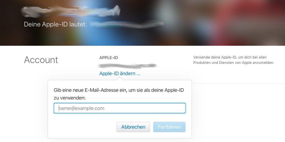 e194aee61c Vergrößern Die E-Mail-Adresse einer Apple-ID kann einfach geändert werden.