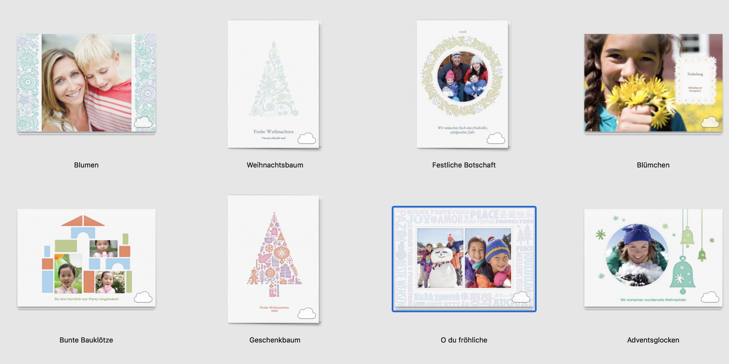 Pers nliche weihnachtskarte mit fotos und photoshop macwelt for Photoshop weihnachtskarte