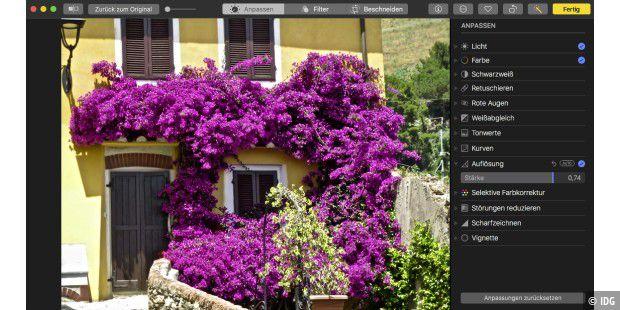 Bilder Auf Dem Mac Kostenlos Mit Fotos Bearbeiten Macwelt
