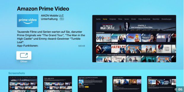 Amazon Prime Video kommt auf das Apple TV