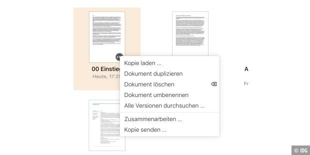 Pages unter Windows.