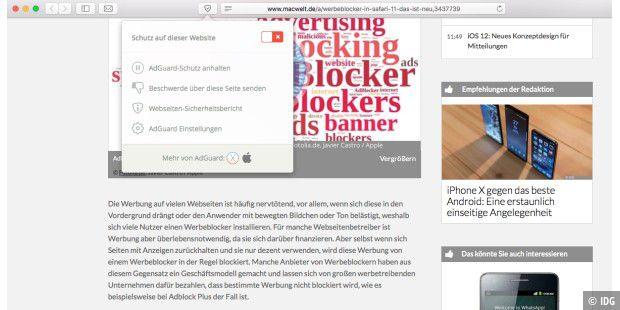Werbeblocker in Safari 11: So funktioniert´s - Macwelt