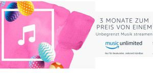 Amazon Music Unlimited Fa-mily: 3 Monate für 14,99 Euro