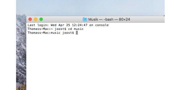 Mac Befehle