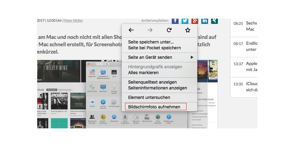 Screenshots mit Firefox
