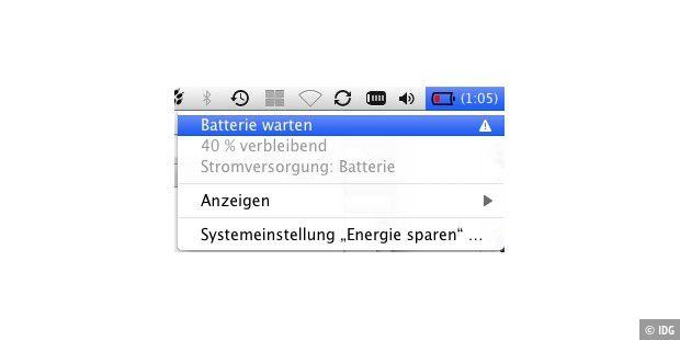 batterie warten