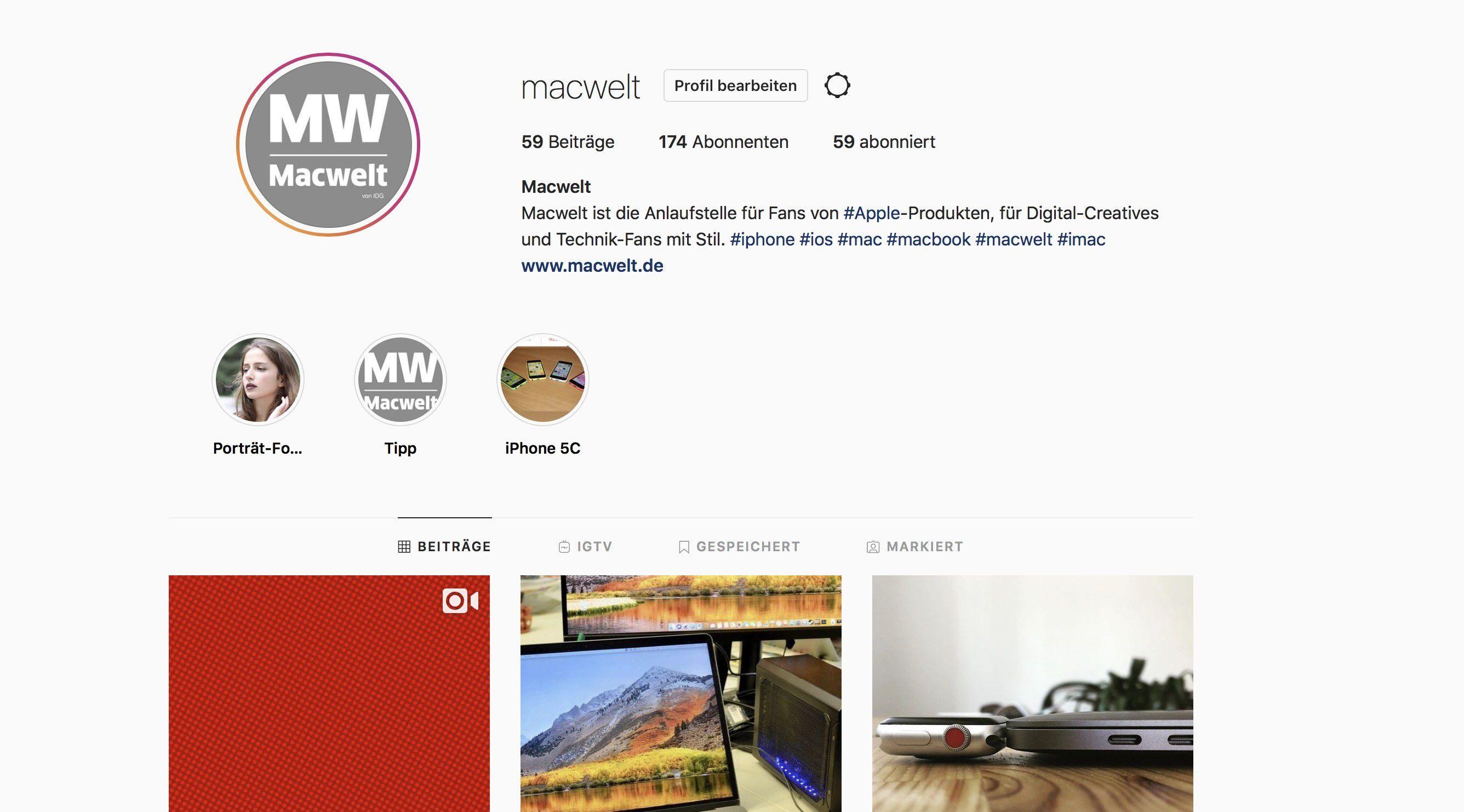 Instagram auf dem Mac nutzen - Macwelt