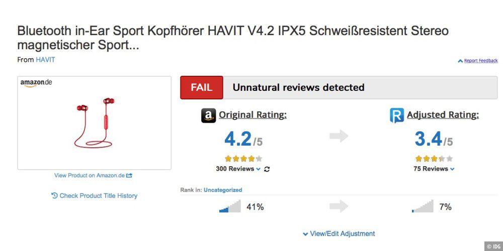 Amazon Echte Bewertungen