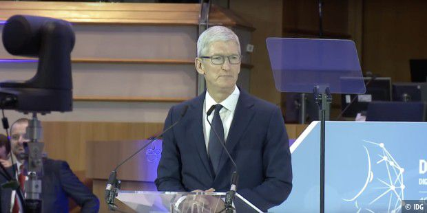 Tim Cook vor dem EU-Parlament