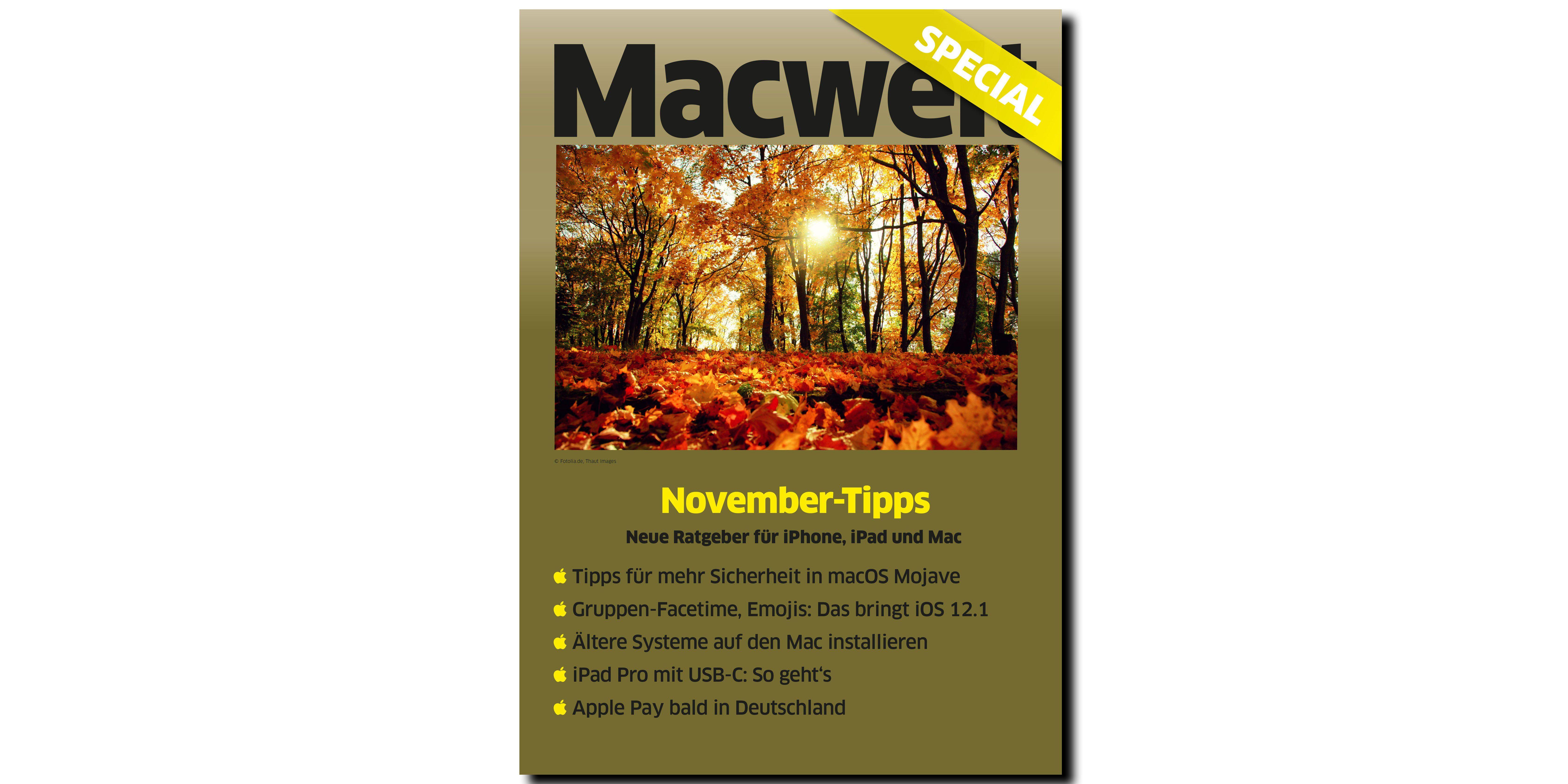 b55d7461b9ec Neues Special  November-Tipps - Macwelt