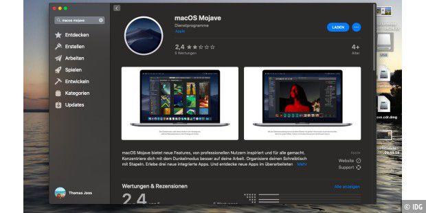 macOS 10 14 Mojave in virtuellen Umgebungen betreiben - Macwelt