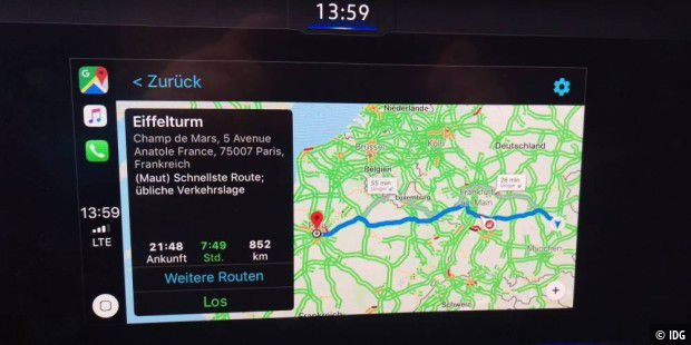 Google Maps auf Carplay
