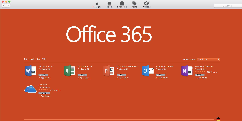 Microsoft Office 365 Jetzt Im Mac App Store Macwelt
