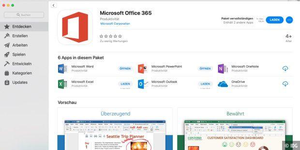 Office Im Mac App Store Wird Er Jetzt Doch Ein Erfolg Macwelt
