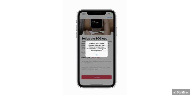 Warnung vor iOS 12.2: EKG in Deutschland wohl gesperrt