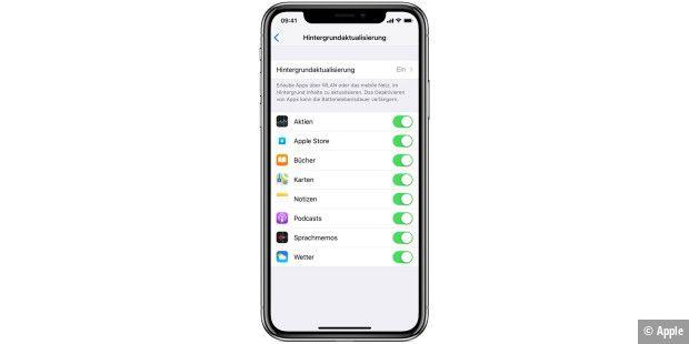 Apps im hintergrund iphone