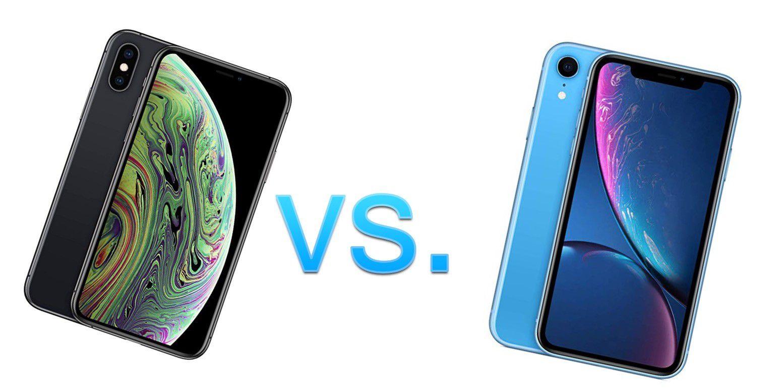 display vergleich iphone xs und xr