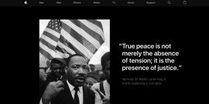 Apple ehrt Martin Luther King Jr.